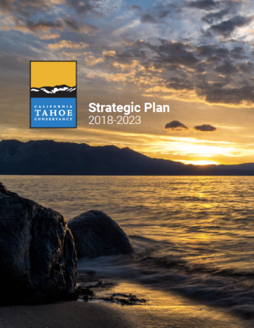 Strategic Plan cover showing sunset